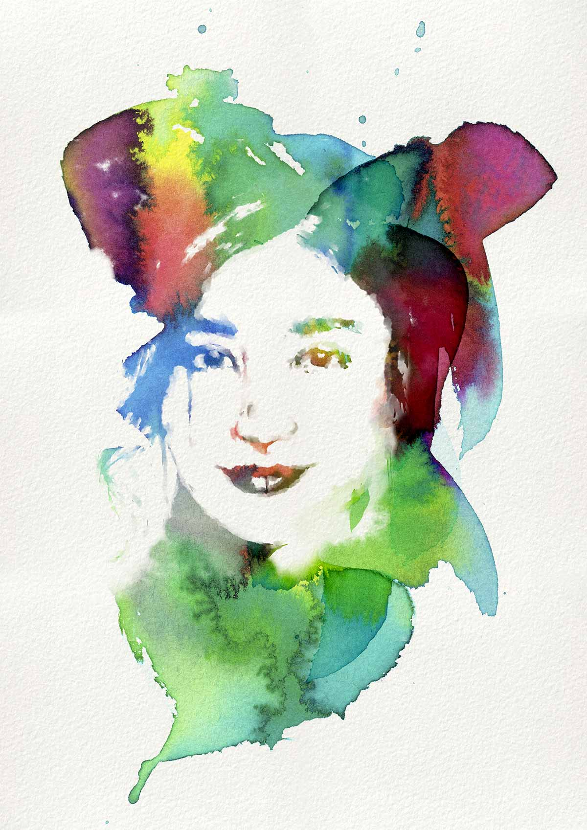 Free Photoshop Brushes of Dynamic Watercolor