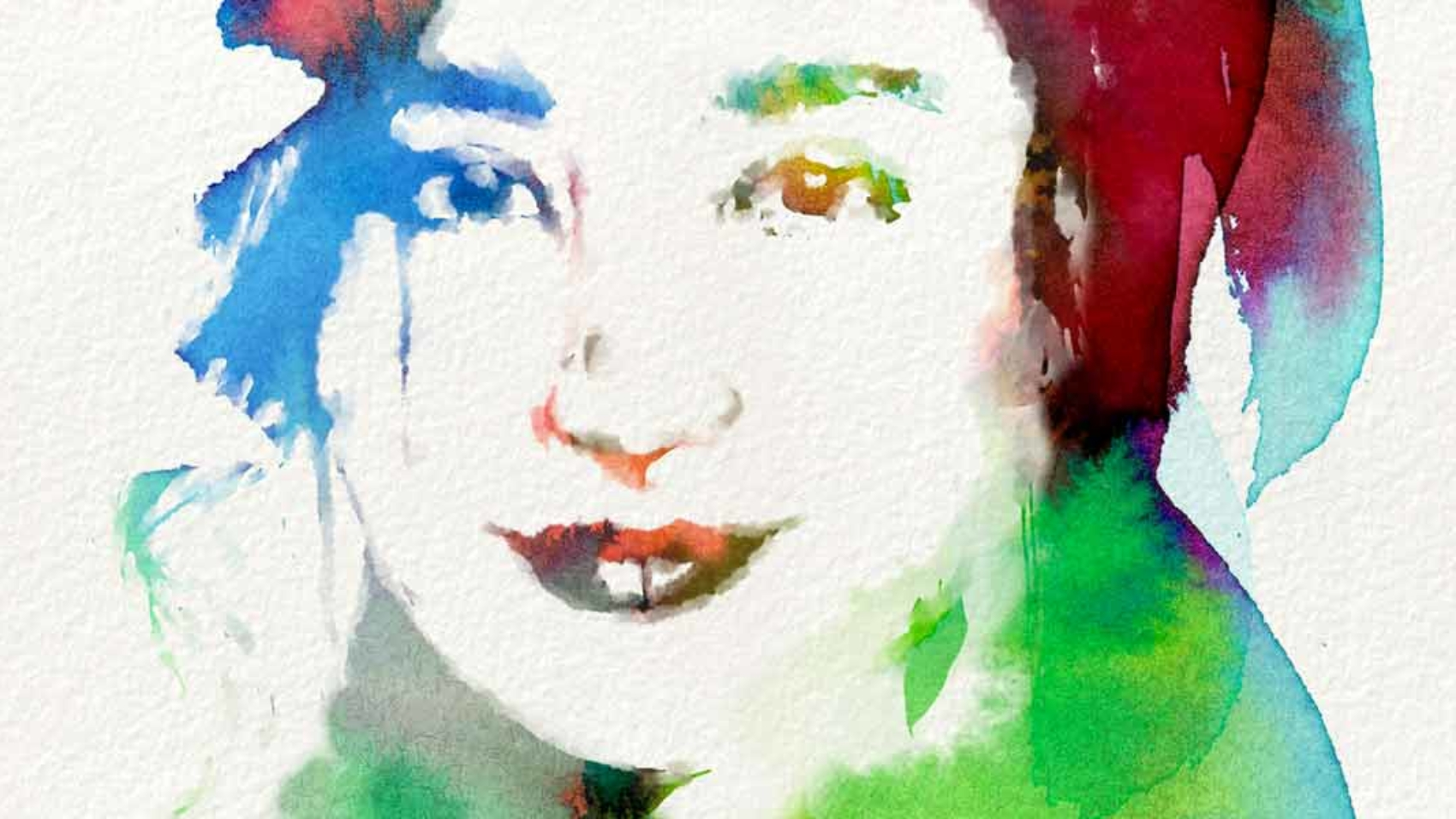Free Photoshop Brushes of Dynamic Watercolor to Create Digital Watercolour using negative space