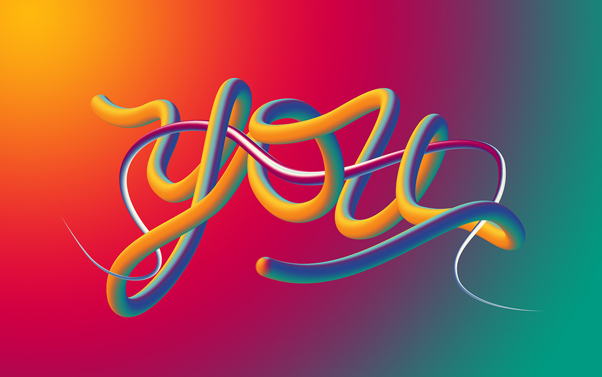 Tutorial Create Amazing Pop Noodles 3D Lettering with Adobe Photoshop Brushes