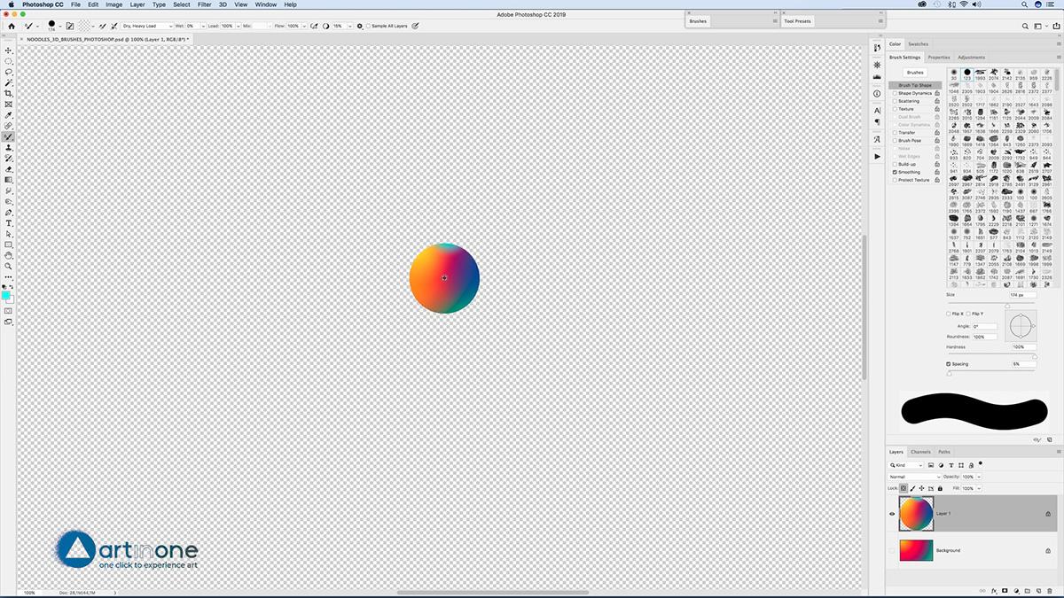Defining the Mixed Adobe Photoshop Brushes