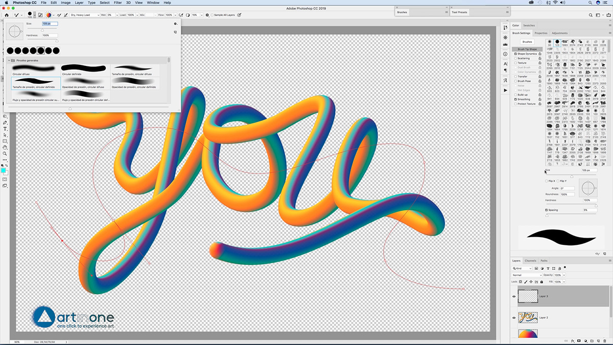 Adding another 3D Noodle to the Lettering