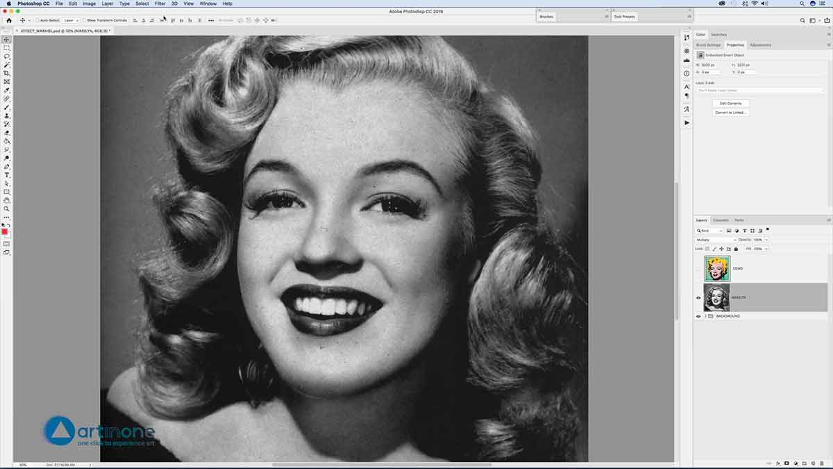 Marylin to the Andy Warhol Photocopy Effect in Photoshop