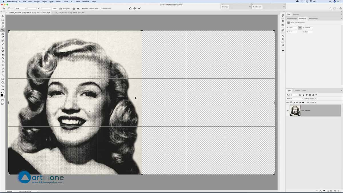 Duplicating to Screen Printing Andy Warhol effect in Photoshop