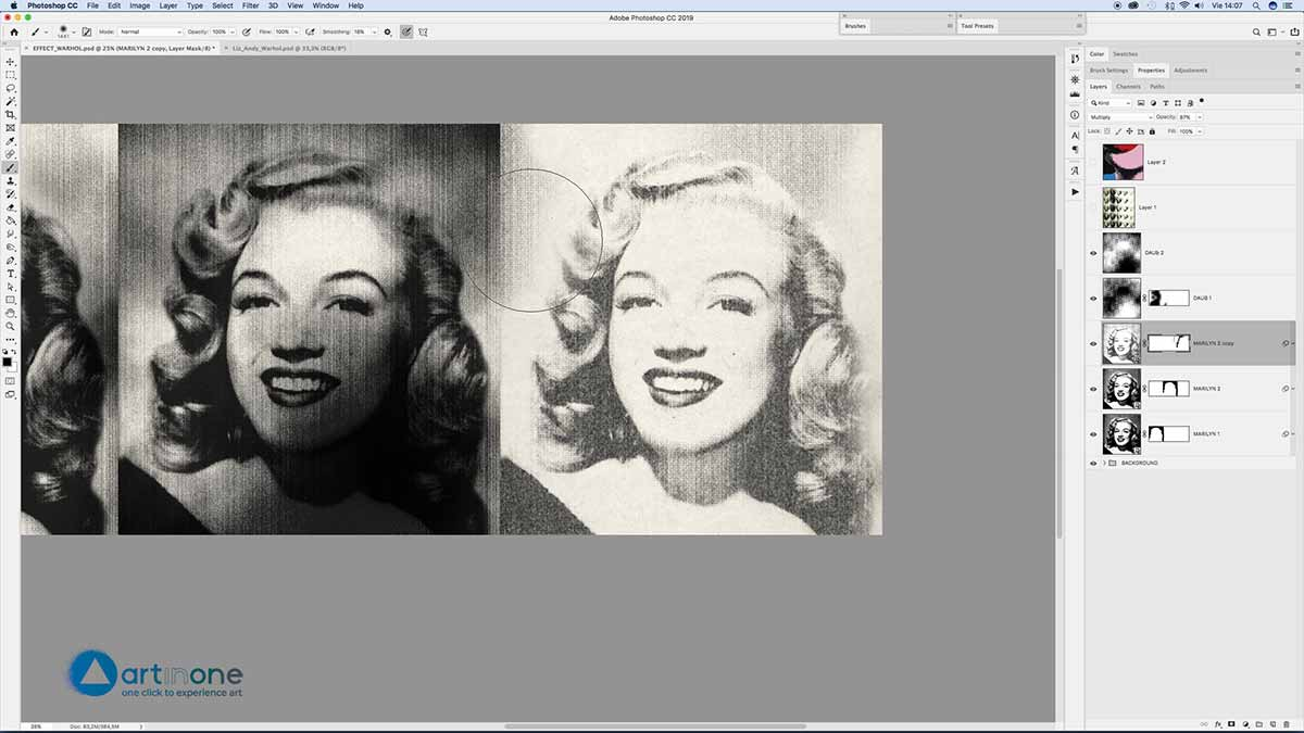 Repeating figures for Screen Printing Andy Warhol Effect in Photoshop