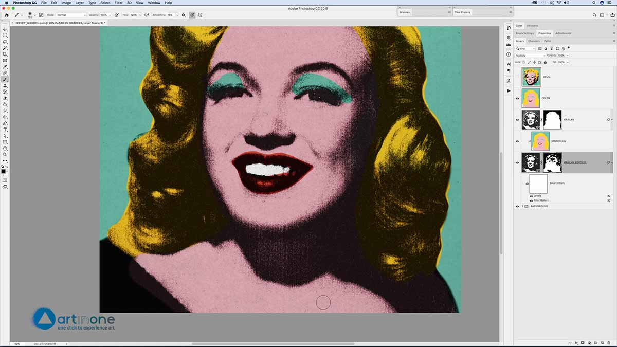 Colorizing to Marylin for the Andy Warhol Photocopy Effect in Photoshop