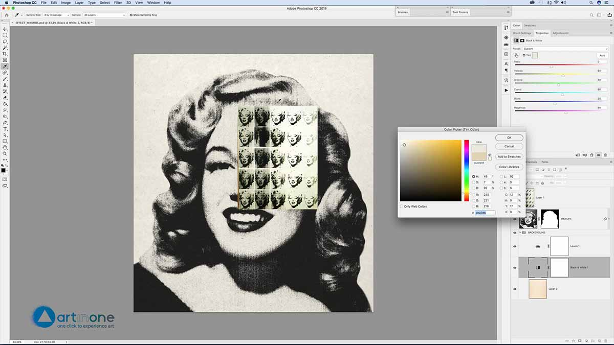 Screen Printing Andy Warhol effect in Photoshop