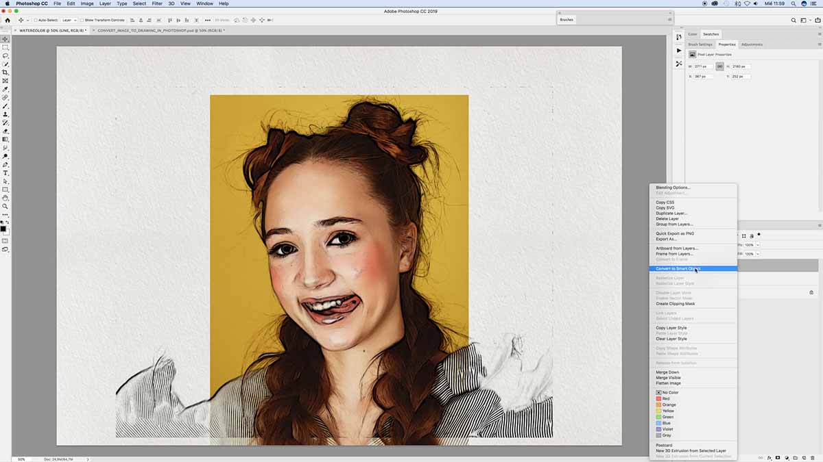 Converting picture to drawing